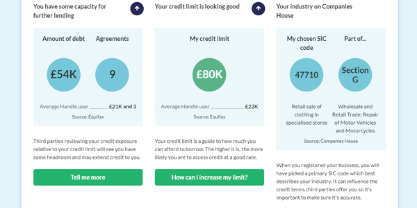 Handle credit report credit profile screenshot