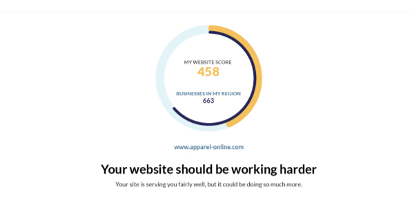 Handle website report