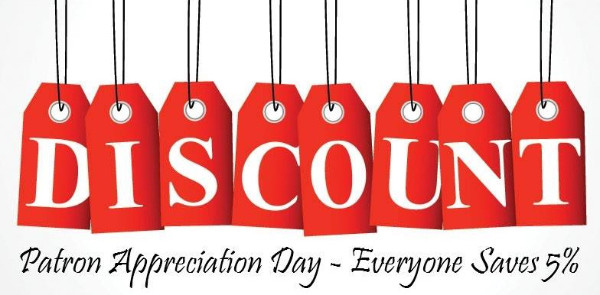 Photo: Discount Day Save 5%