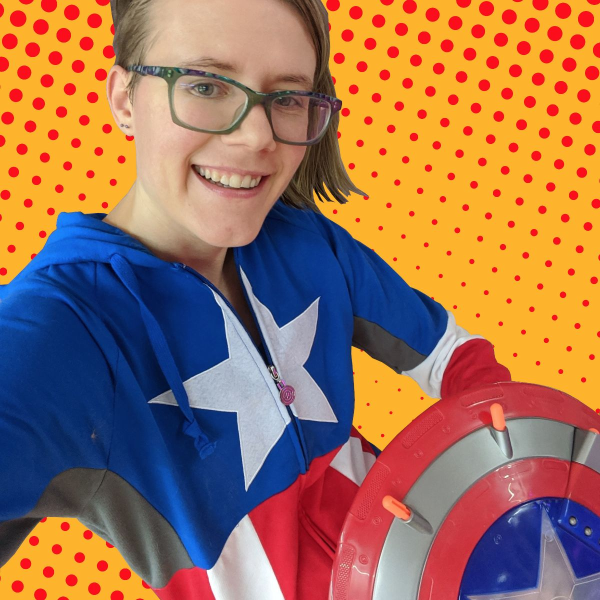 Me dressed up as Captain America for Halloween