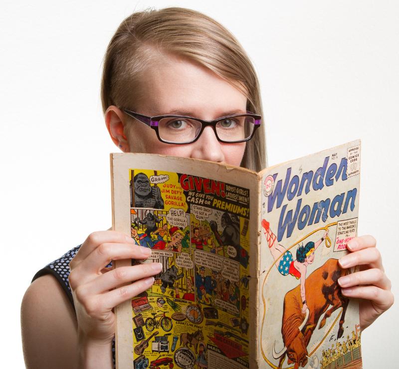 Me reading an old Wonder Woman comic