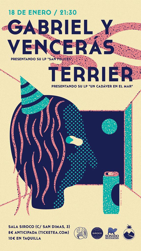 Cartel LaFonoteca enero- Diseño M.Bardo