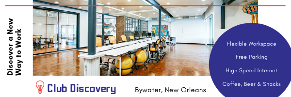 Club Discovery: co-working space in New Orleans Bywater