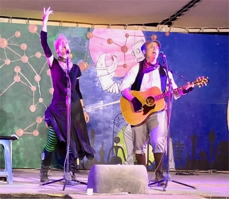 Jill and Matt perform at Burning Man Center Camp 2018