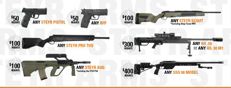 Steyr Arms Rebates 2017