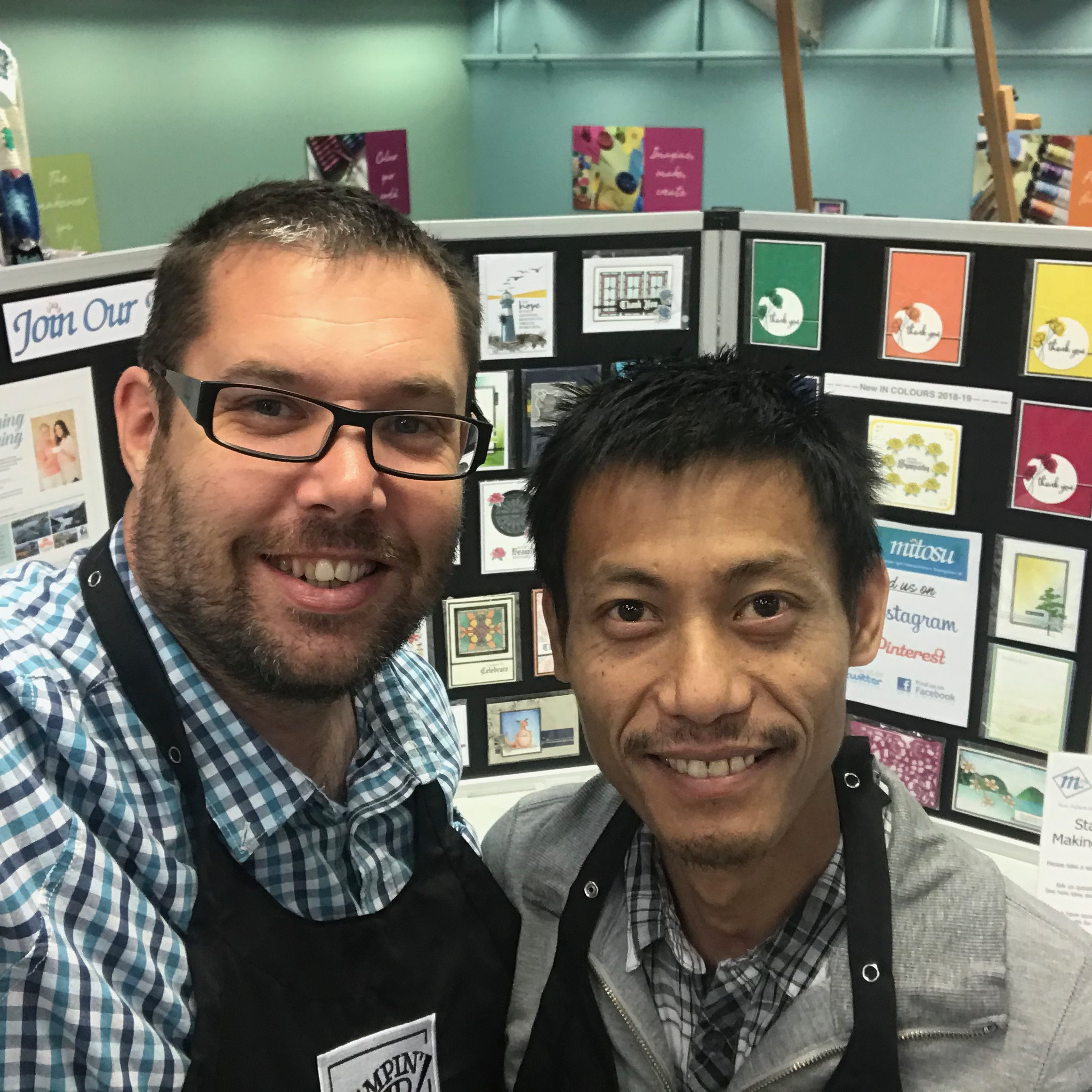 Barry & Jay from Mitosu Crafts UK, Independent Stampin' Up! Demonstrators