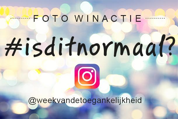Banner van de Foto Winactie #isditnormaal