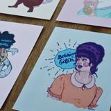 Ugly femme postcards.
