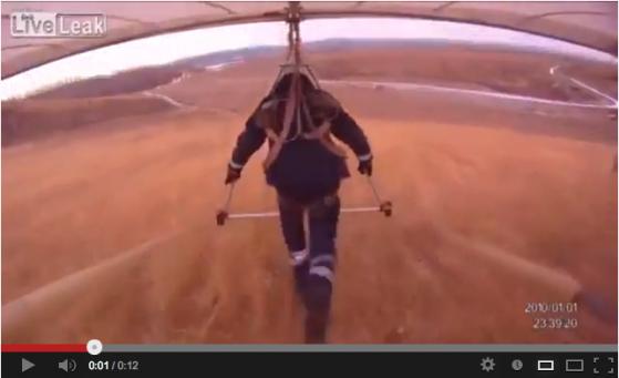Hang glider goes oofta