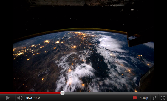 What does earth look like from a sattelite?