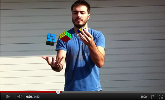 Juggle Rubik's Cube