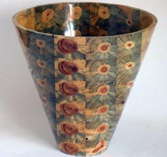 Photo of a finished stick vase