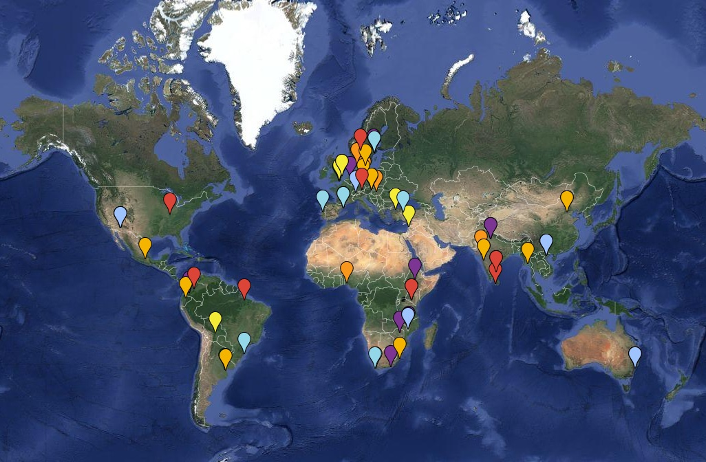 Transformative Knowledge Networks: Selected and shortlisted networks worldwide