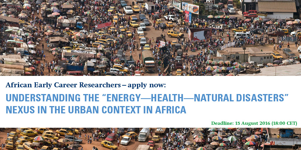 Call for pre-proposals: Energy-Health-Natural Disasters nexus in African Cities