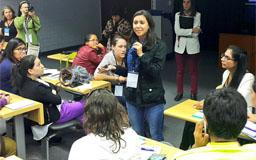 Jovenes centroamericanos en encuentro sudamericano