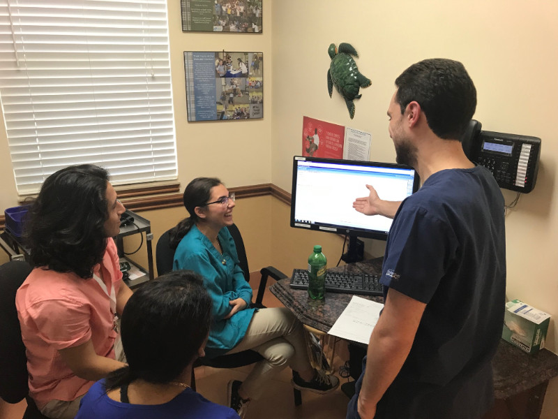 Jason Baluja teaching the new scribes