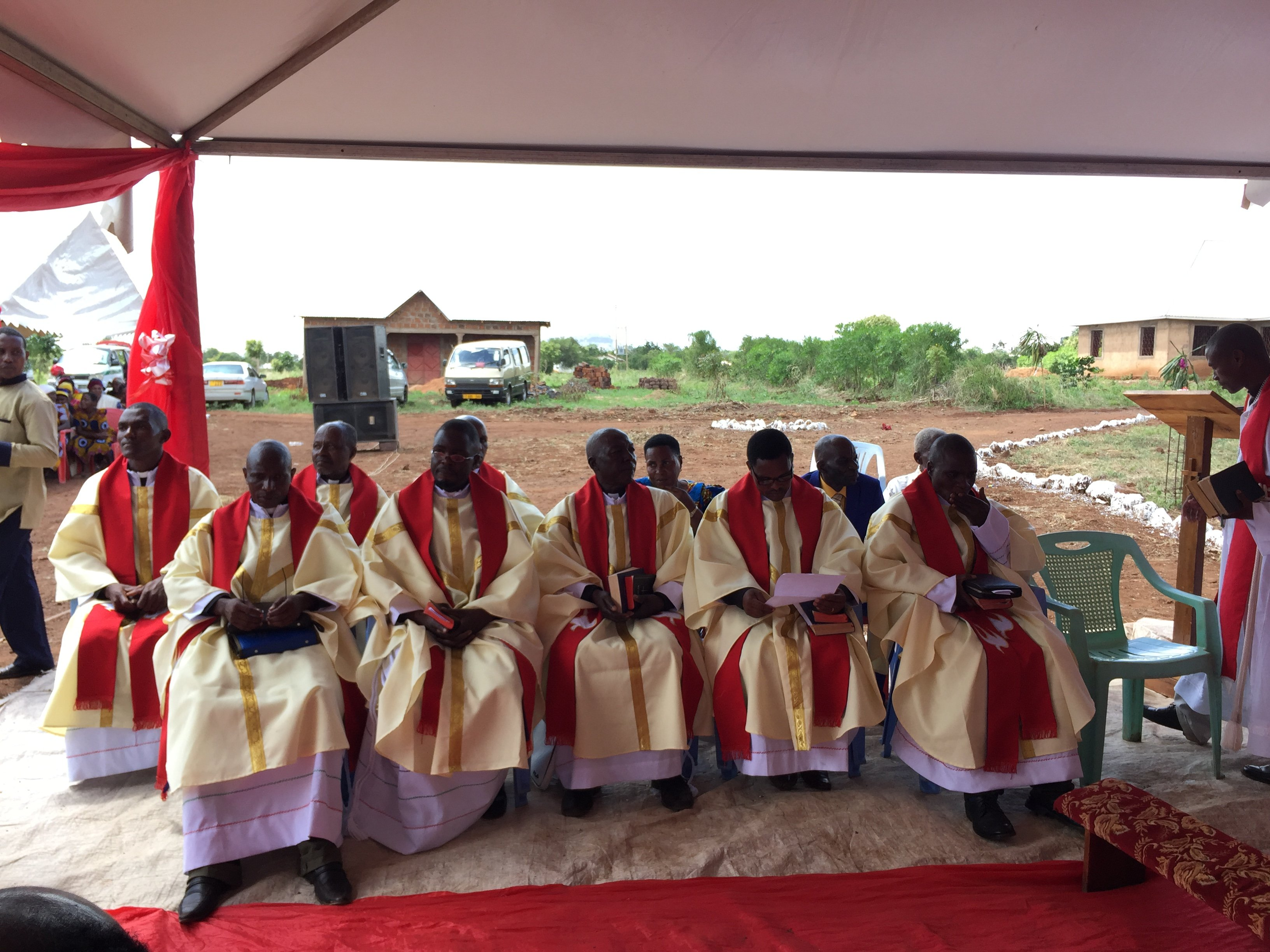 Newly Ordained Pastors of the LCEA as the Service Concludes