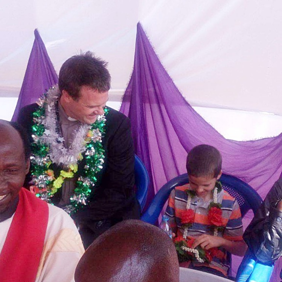 Josiah Examines the Lei Given to Him by the Bishop