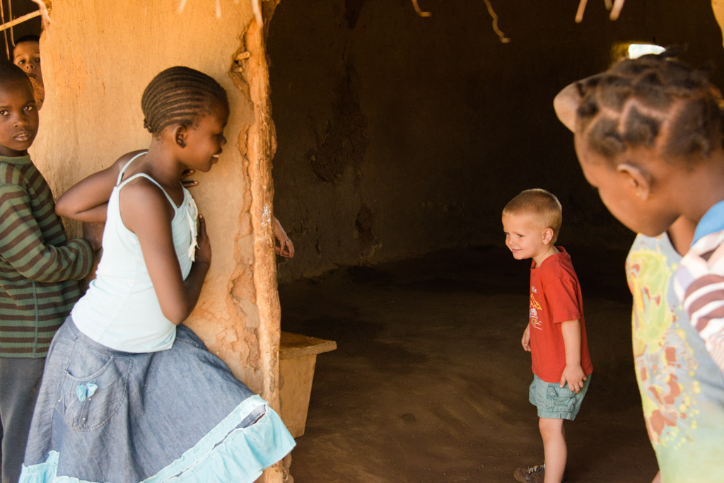 Village Children Enamored with Isaiah (photo by Carlotta Cisternas Tiews)