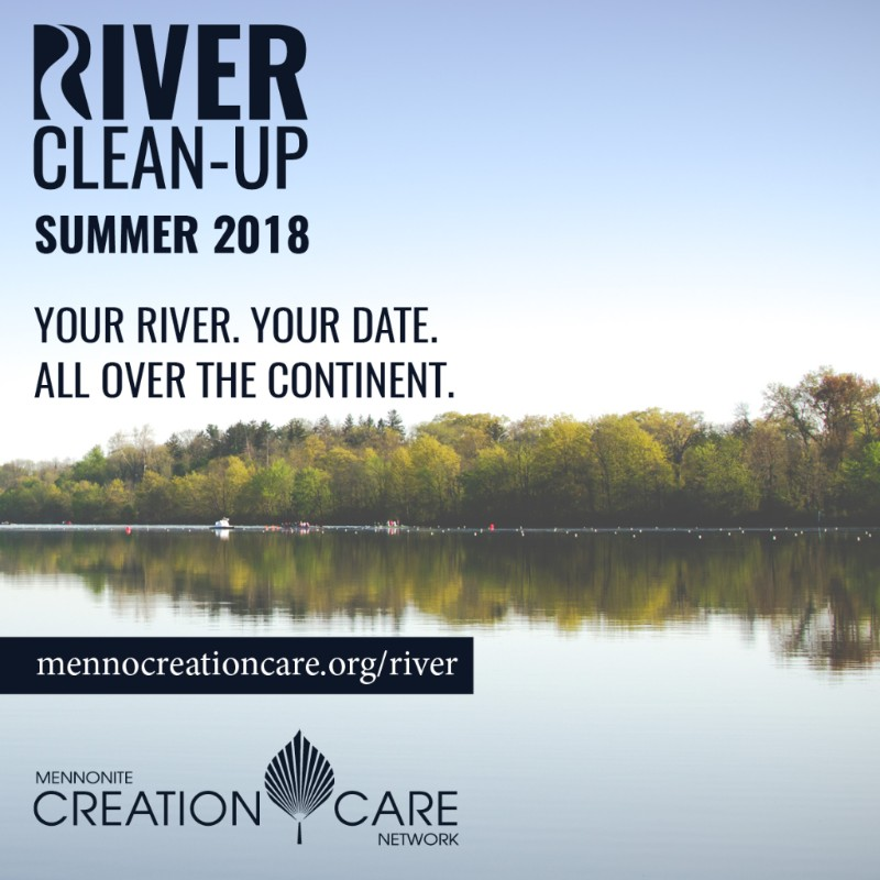 river clean up ad; pix of river