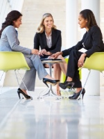 a picture of business women meeting
