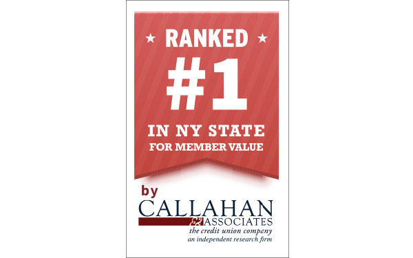 image of badge NEFCU Ranked #1 in NY State for Member Value