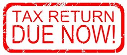 TAX RETURN DUE NOW!