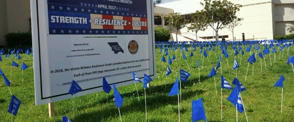 Crime victims rights 1000 flags