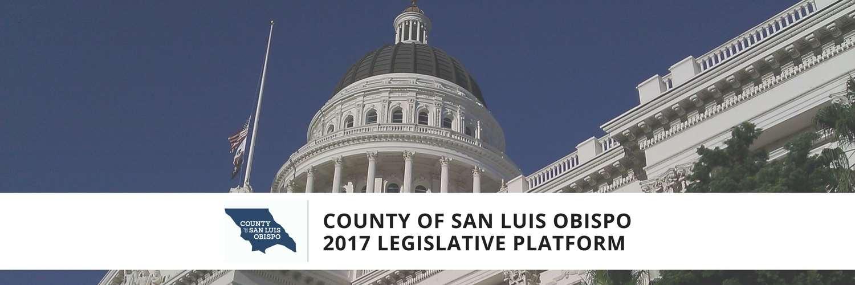 legislative platform banner with state capitol background