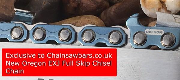 NEW Oregon EJX Full Skip Chisel Chain Exclusive to Chainsawbars.co.uk