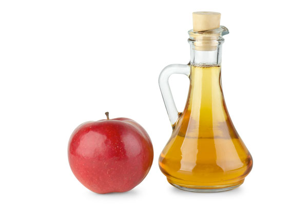 Image: Apple and Bottle of Cider Vinegar
