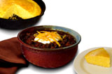 Image: Bowl of Valley Green Chili & Corn Bread