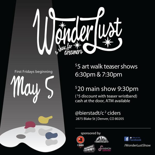 Wonderlust show flyer