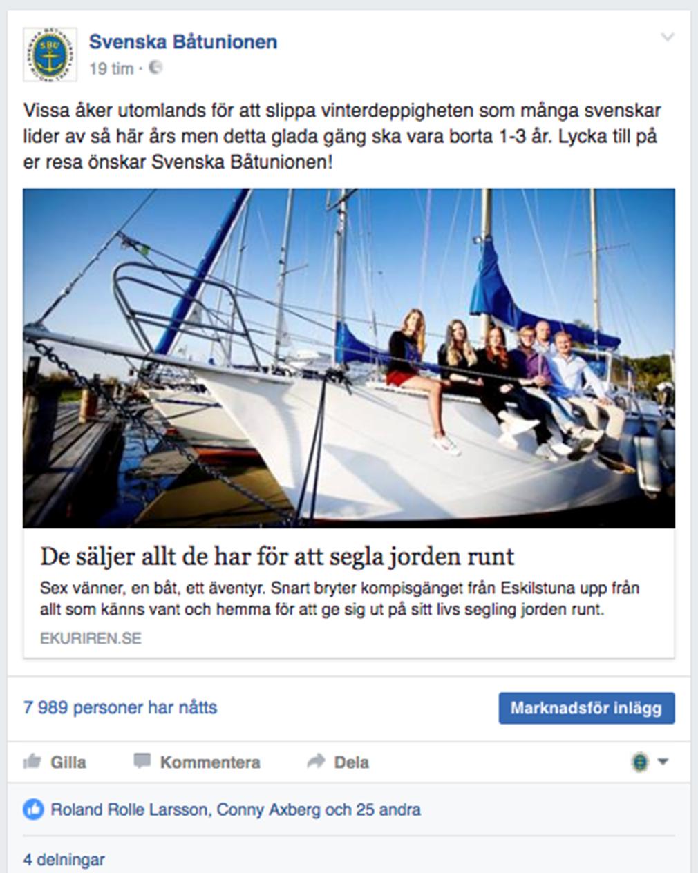 SBU och Båtliv satsar på sociala medier