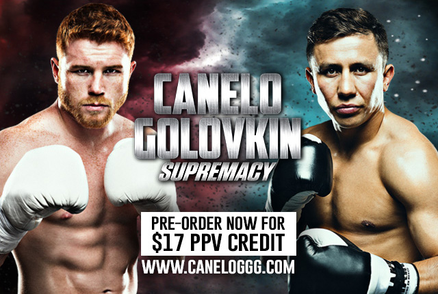 Official Online PPV for Canelo vs. Golovkin