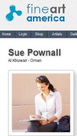 Sue Pownall on Fine Art America