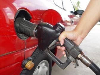 Putting petrol in car