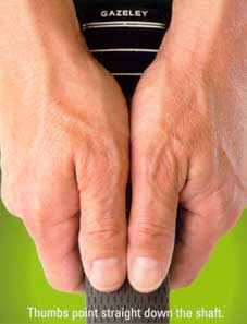 How to hold 2thumb grip