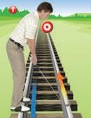Railway golfer
