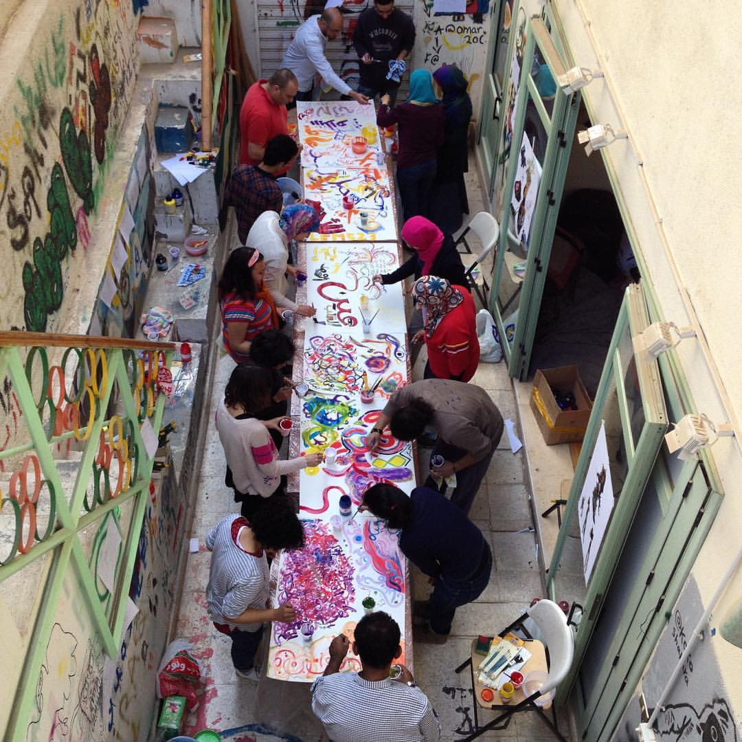 Writing as drawing session
