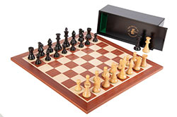 House of Staunton Club Series Wooden Chess Set Combo with Board, Pieces, and Box
