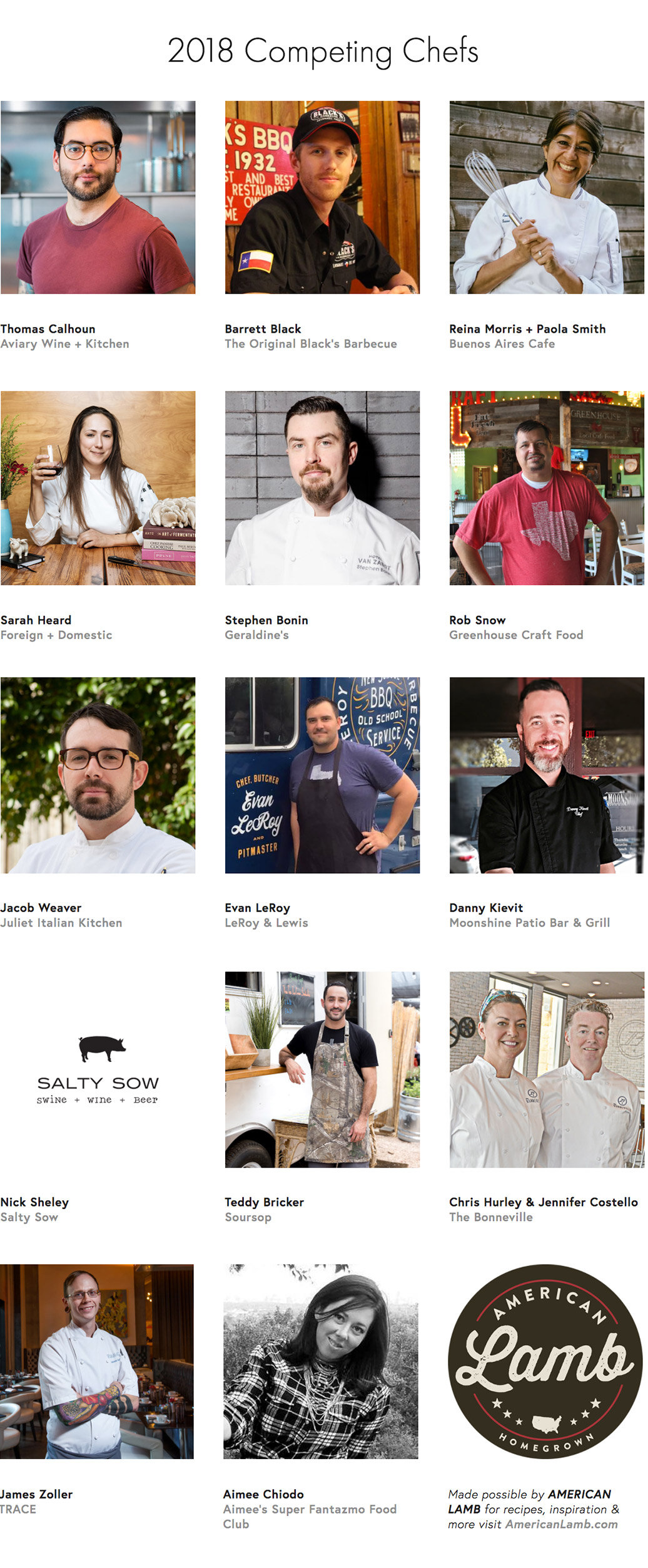 Austin Competing Chefs