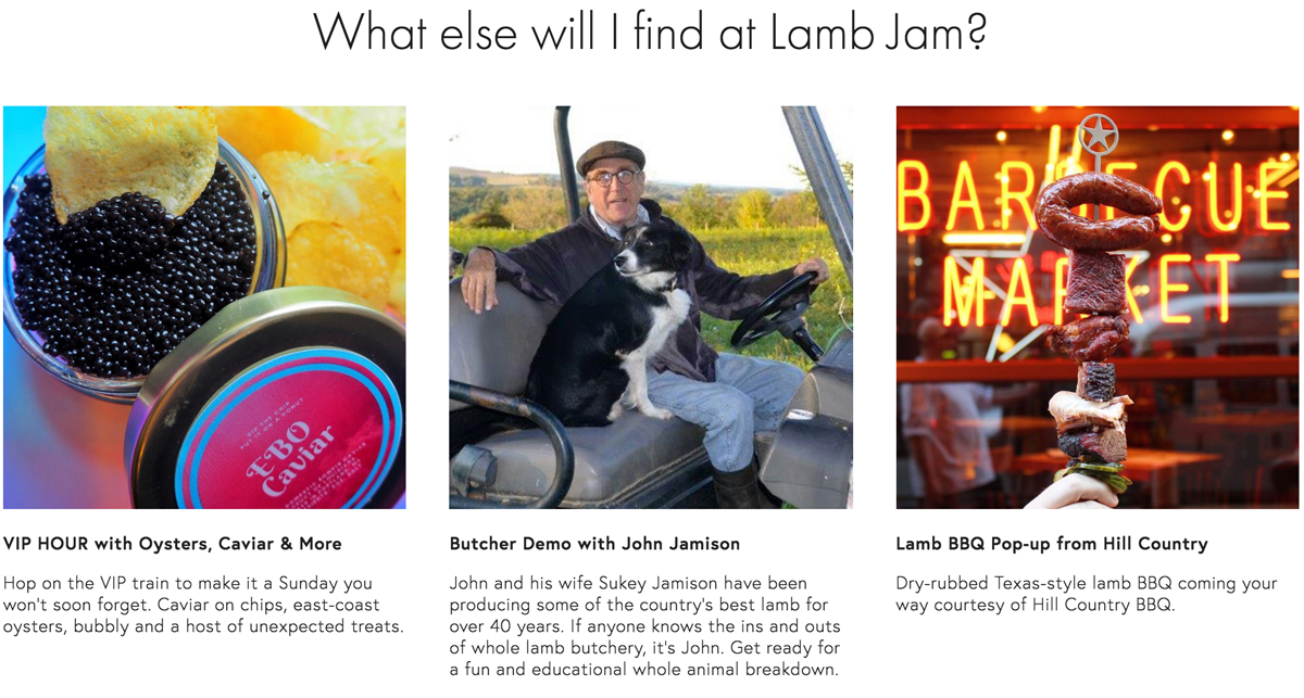 What else you'll find at Lamb Jam