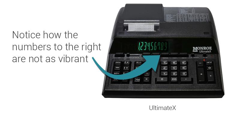 Monroe UltimateX Calculator being used to test brightness