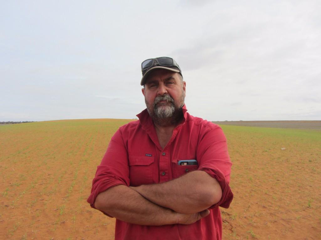 After sand dune reclamation on Robert Matthews' farm