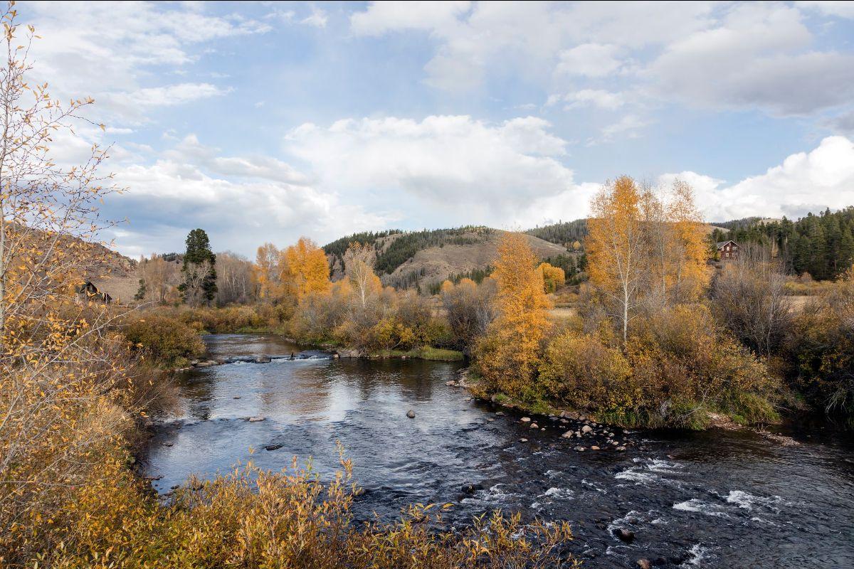 Colorado River in autumn in Grand County Idaho, public domain image, Library of Congress