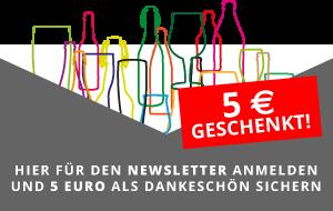 Für den Newsletter anmelden und 5 Euro als Dankeschön sichern.