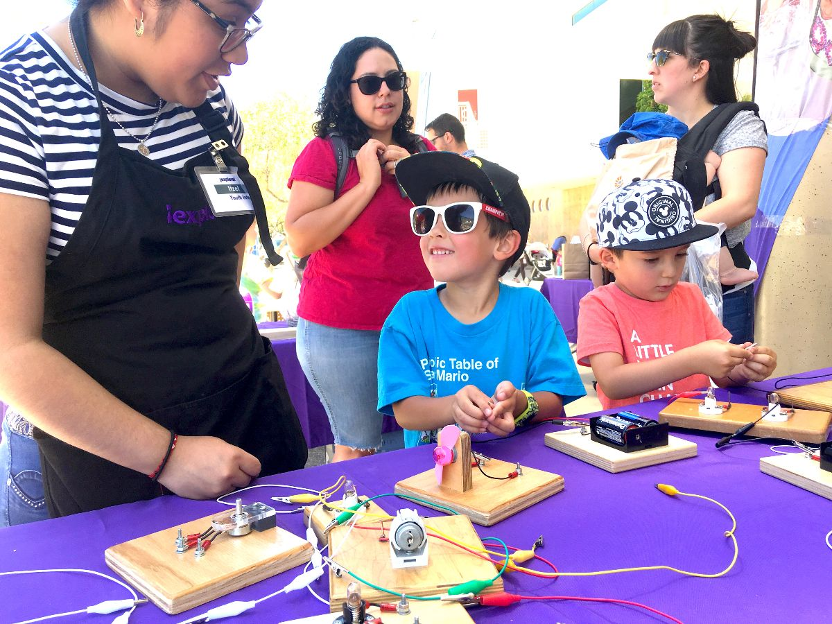 Image of children enjoying 2018 science fiesta