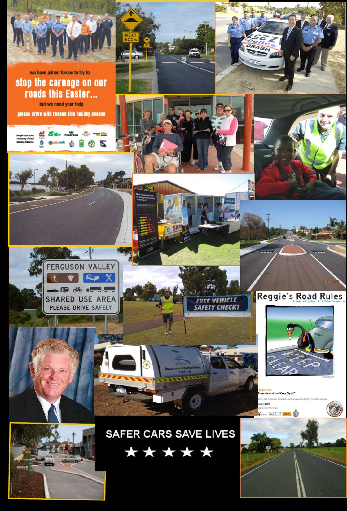 LG Road Safety Awards collage