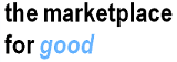 the marketplace for good logo